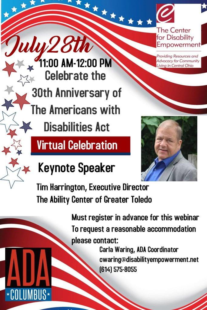 ADA 30th Anniversary Celebration Flyer