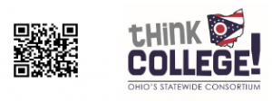QR code and ThinkCOLLEGE logo