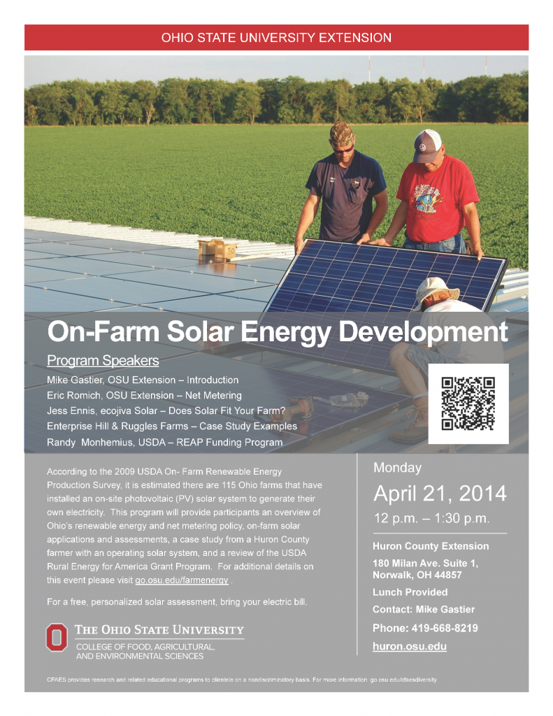 On-Farm Solar Development - Huron County 2014-04-21 Web