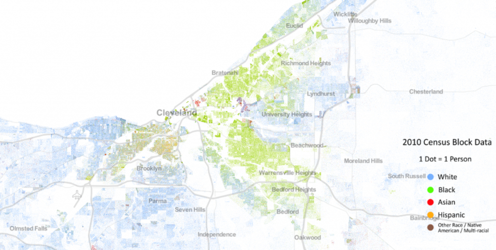 Racial Density in Cuyahoga County, 2010