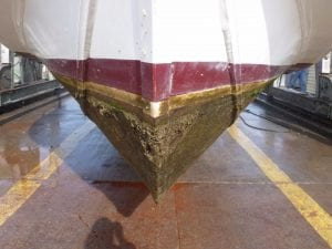 Boat Bottom Power Washing