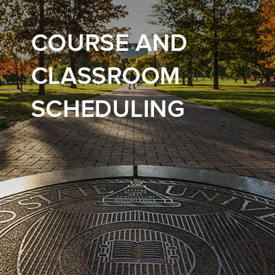 Course and classroom scheduling