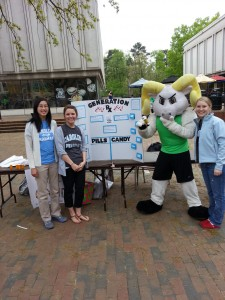 Rameses (the Tar Heels mascot) joined our students to raise awareness about the dangers of misusing stimulant medications.