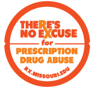 "MoSafeRx logo that reads ""There's no excuse for prescription drug abuse."""