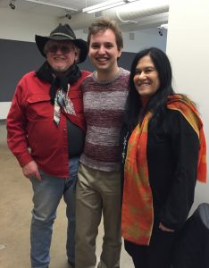 L to R: David Morris, Matt Schneider, Appalachian Project Student with Barbara Kopple
