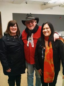 L to R: Lynaya Elliott, Appalachian Project Member, David Morris, Barbara Kopple