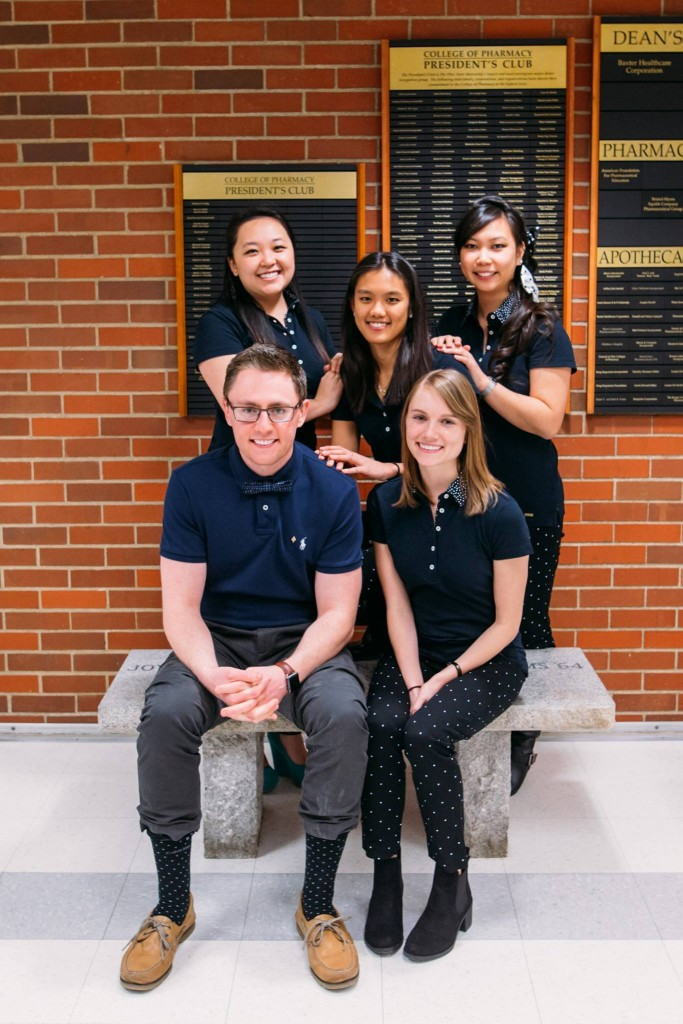 Dr. Mindy Lam (top right) with her Kappa Psi lineage
