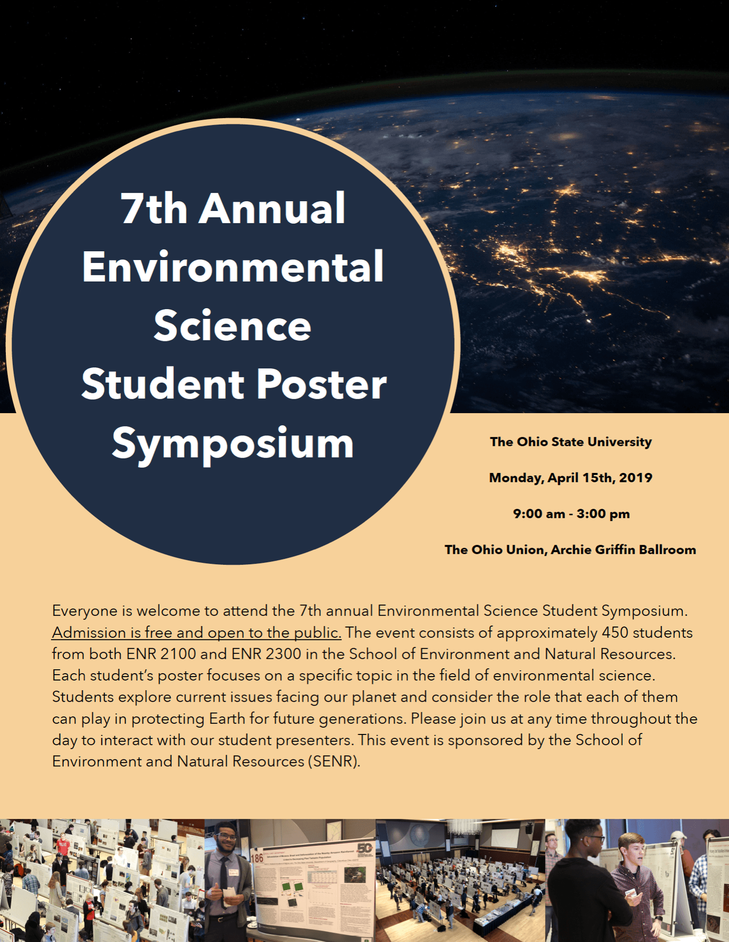 flyer for 2019 poster symposium with details of event