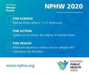 Public Health Week - Mental Health Monday