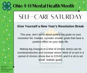 Self-Care Saturday New Year's Resolution Break
