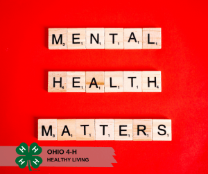 "Scrabble tiles spelling ""mental health matters"""