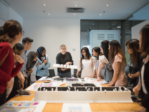 The design and technical side of exhibition management