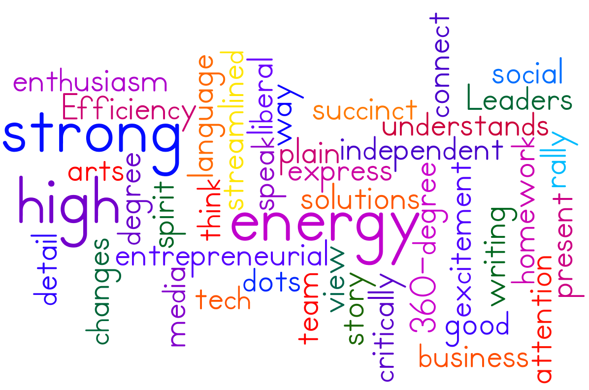 today s employers part of emaestra blog word cloud by wordle of key skills from what i look for in new hires