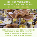 Drs Pace, Slot, and Davis to offer Psychedelic Studies Course this Fall.