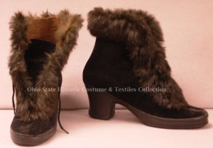 1920s Fur Carriage Boots Gift of Mrs. Charles Hyatt