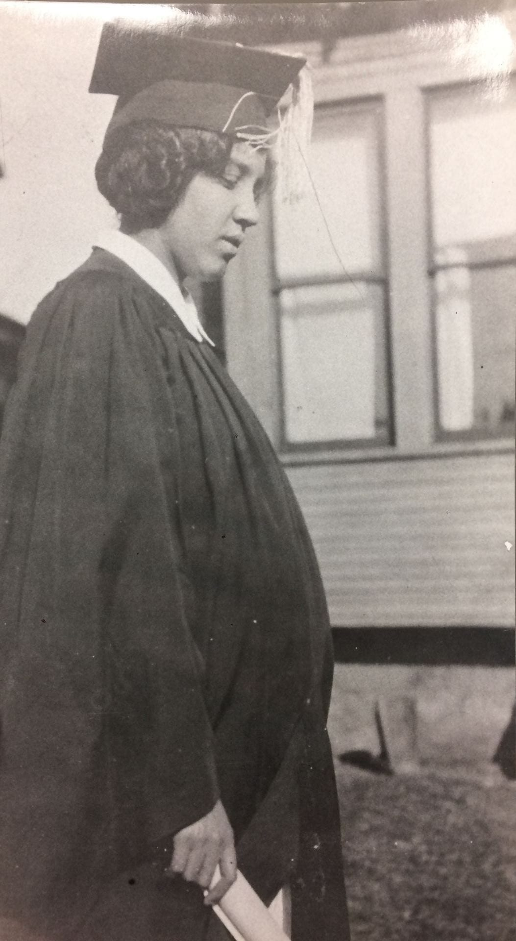 2b235cfda9619 Image of Ruth Ella Moore in cap and gown circa 1926