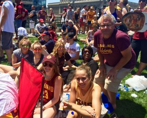 Cleveland Cavaliers Parade with my co-workers
