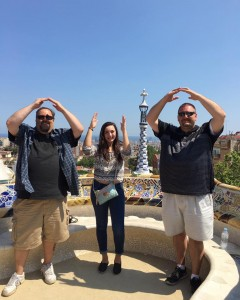 In Spain this past June, Sierra and two former buckeyes united to show their school spirit at Antonio Gaudi's Parque Guell in Barcelona, Spain.