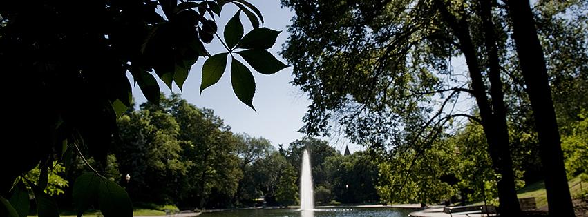 photo of mirror lake osu campus