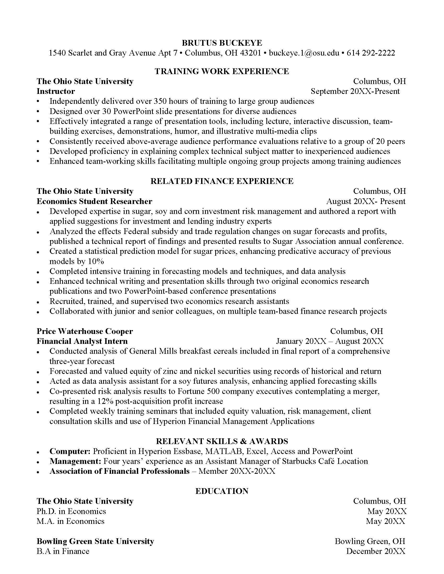 El Manager Resume Example | 1 Page Resume Sample 1y5pkel Transforming Your Cv Into A Resume