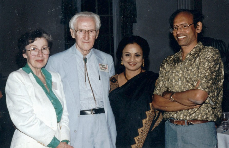 Madeleine and Arnold Ross with Joya and Dijen Ray Chaudhuri