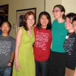 Ying-Ying Tran, Summer Evans, Jingjing Huang, Jen Sinnott, Lola Thompson, and Michelle Lee