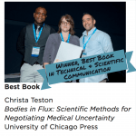Christa Teston's Bodies in Flux: Best Book in Technical and Scientific Communication
