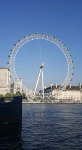 A picture of the London Eye on a nice day