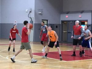 Intramural basketball at the Student Activities Center