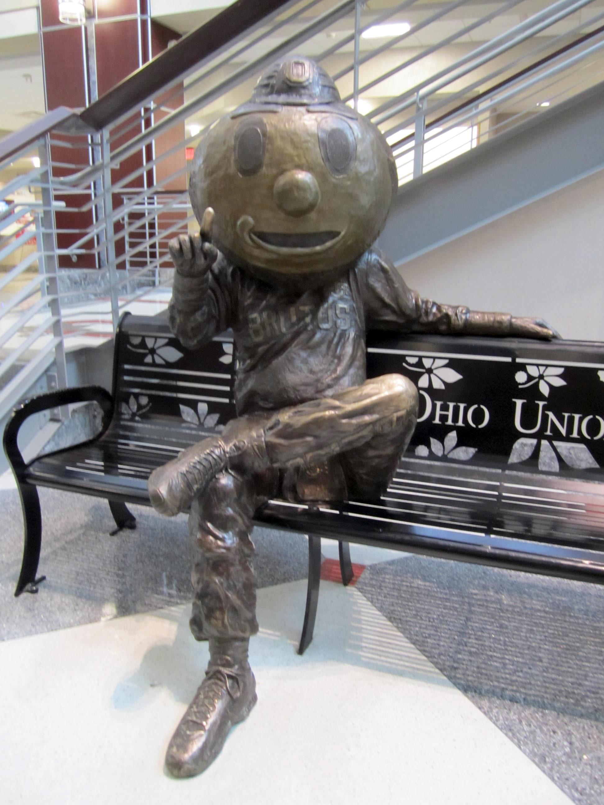 Ohio state university brutus buckeye statue - Bronze Brutus Located In The Ohio Union Great Hall
