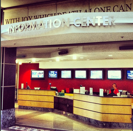 A Picture Of The Information Desk Located On First Floor Ohio Union