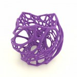 3D printed lamp shade, purple.