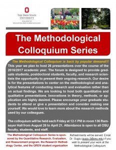Methodological Colloquium Announcement 2016