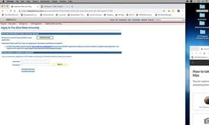 Grad Application signin page