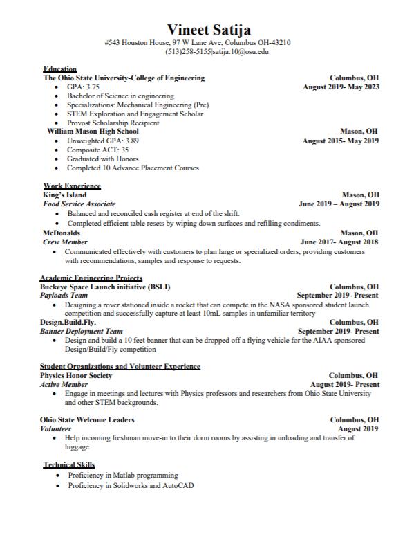 post resume houston