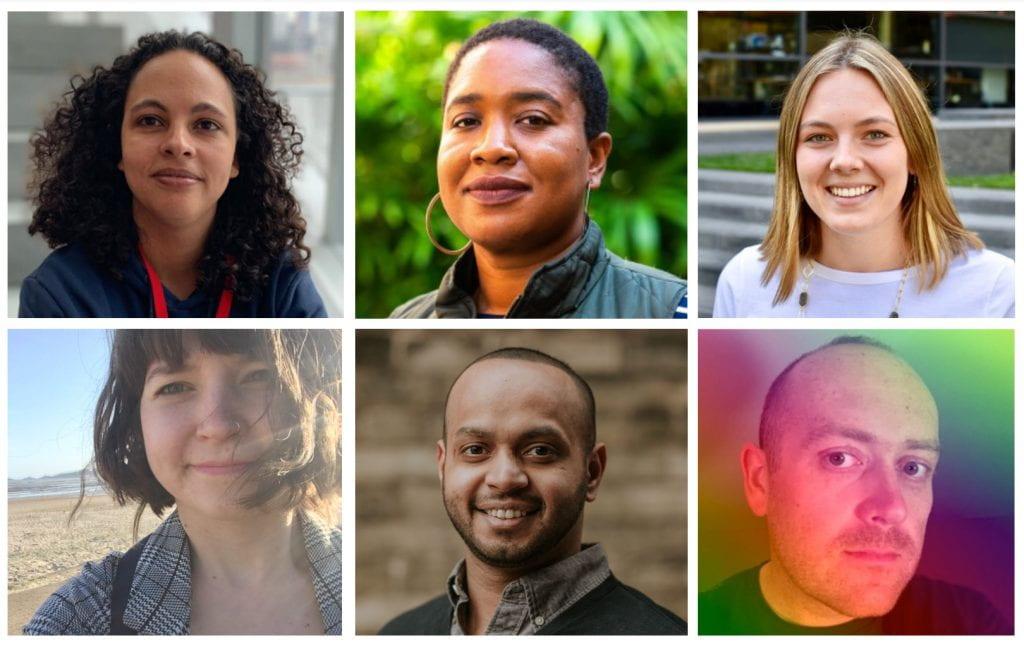 Pictured: J Khadijah Abduraman, Jasmine McNealy, Sam Robertson, Angelika Strohmayer, Devansh Saxena, and Cennydd Bowles