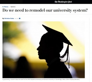 Washington Post web page