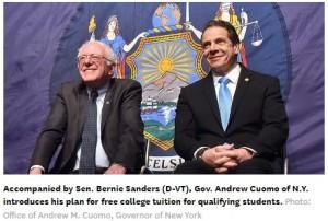 Gov. Cuomo and Sen. Bernie Sanders