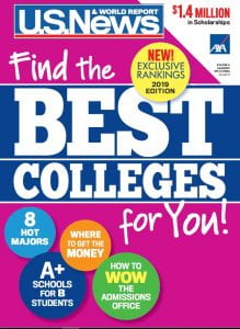 Cover of U.S. News College Rankings guide
