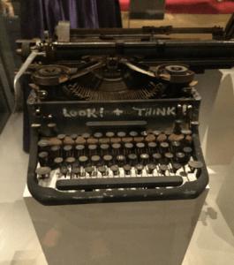 Lawrence Ferlinghetti's typewriter in the Smithsonian