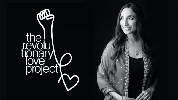 Revolutionary Love Project logo and Valarie Kaur
