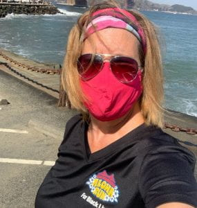 Karin Cotterman at the SF Aloha Run