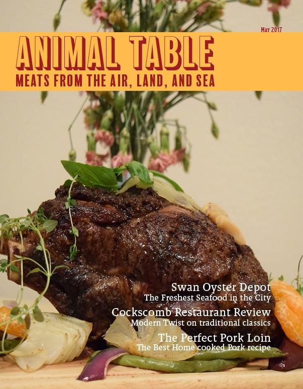 Cover of Christopher Saya's Animal Table Magazine