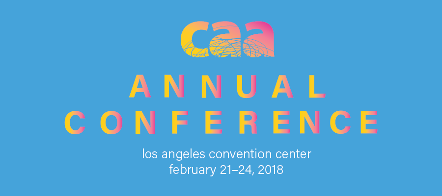 Logo for College Art Association Annual Conference, held in Los Angeles, February 2018