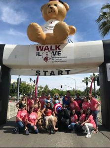 Students posing at starting line of Shriners Walk For Love