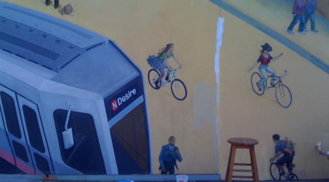 Mona Caron's Bikeway Mural