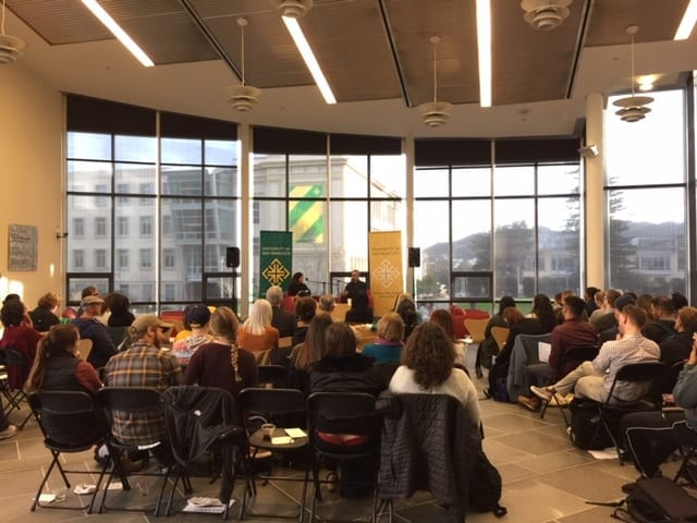 Event audience in Gleeson Atrium