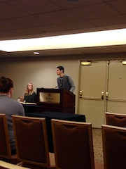 JT Talarman presenting his paper at the conference