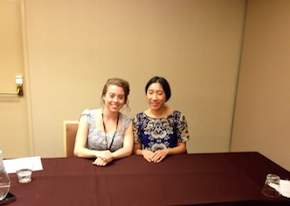Brianne Murray and Eunice Ahn getting ready to present