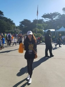 Brittany Olivar helped at the St. Jude's Walk/Run to End Childhood Cancer on September 24, 2016, in San Francisco.